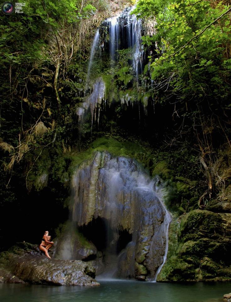 Fonisa waterfall on the Greek island of Kythera