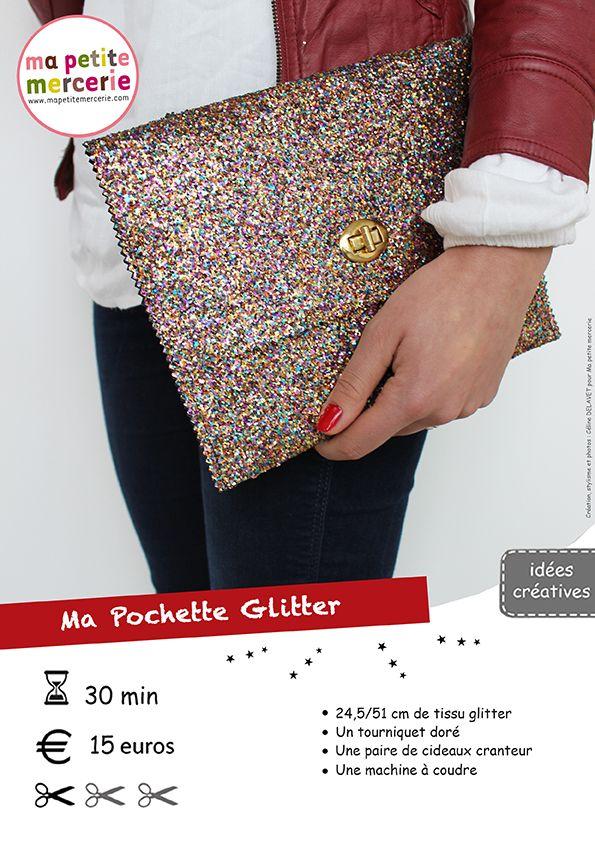 DIY pochette glitter