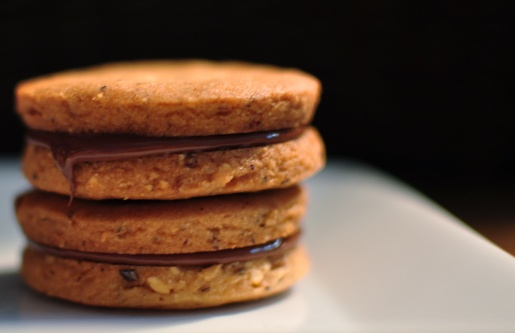 Chocolate Hazelnut Sandwich Cookies   Cookies   Pinterest