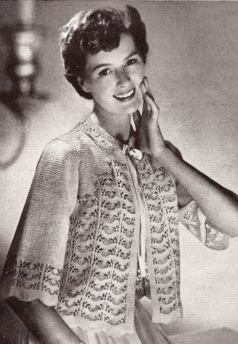 Vintage Lace Sweater Knitting Pattern