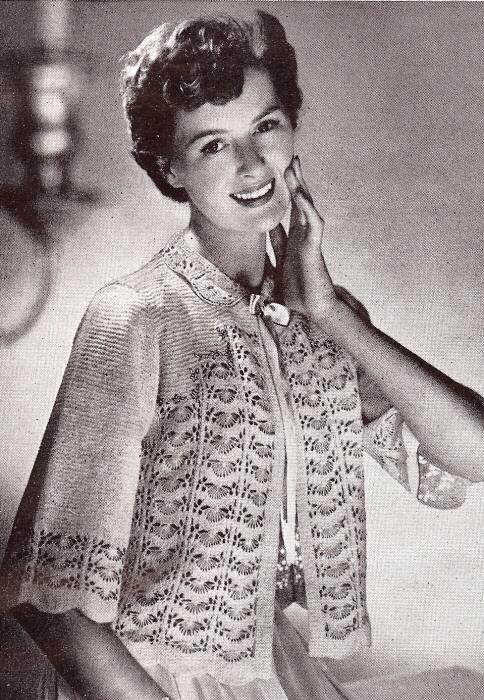 Vintage Lace Knitting Pattern : Vintage Lace Sweater Knitting Pattern vintage knitting ...