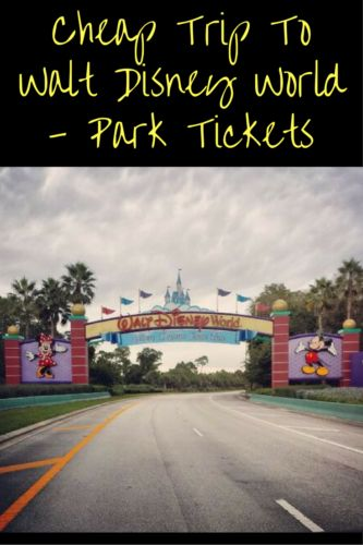 Ready to plan a cheap trip to Walt Disney World? Park Tickets are going to be the biggest expense of your trip.