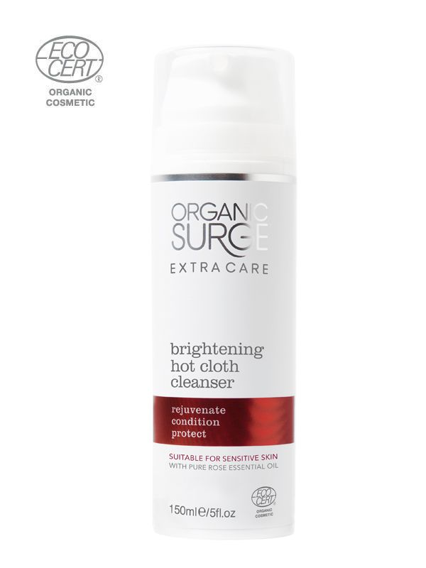 CAROLINE HIRONS Organic Surge Brightening Hot Cloth Cleanser Enriched with Natural She | Organic Surge