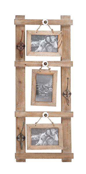 rustic western wood picture frame 3 hanging 5x7 photos vintage look me 3 silly little