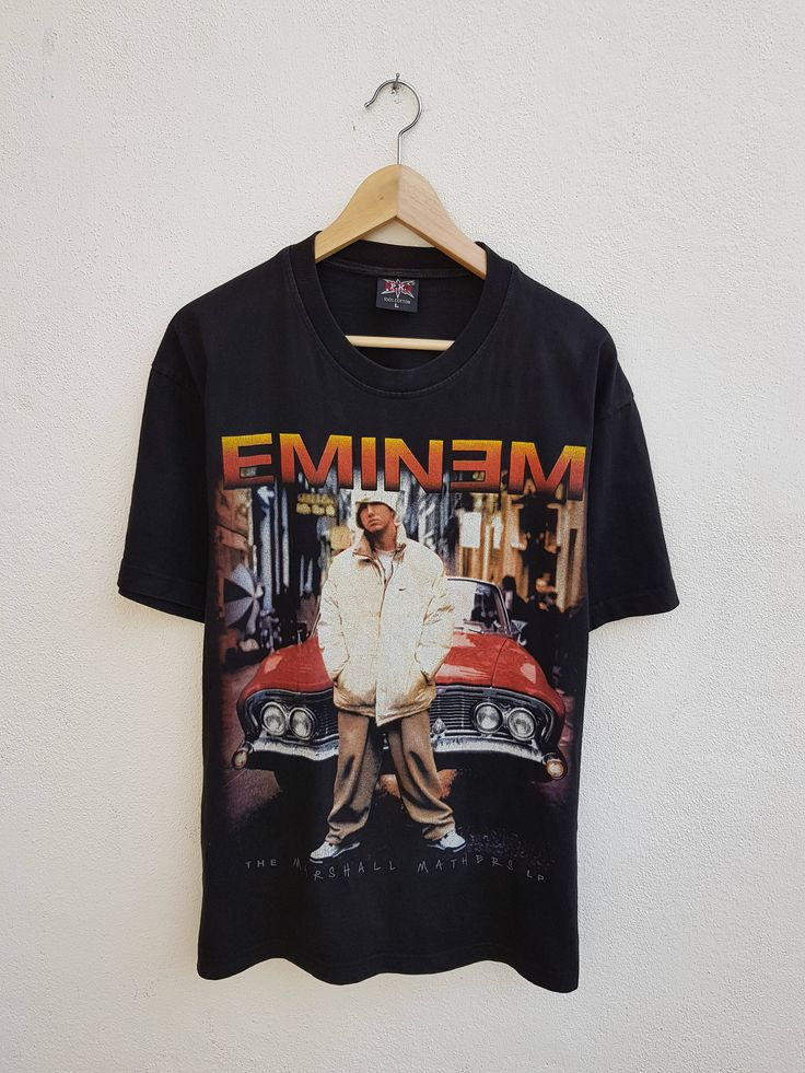 Vintage 90s EMINEM D12 The Marshall Mathers LP Hip-Hop Big Graphic Printed Music Promo T-Shirt Size L by BubaGumpBudu on Etsy