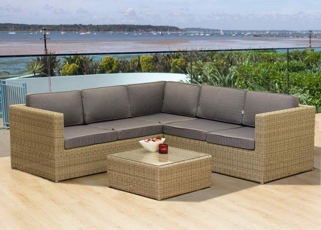 cozy bay oseasons hampton rattan corner sofa set