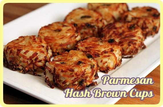 parmesan hash brown cups: Hashbrown, Fun Recipes, Meatloaf, Muffins Tins, Individual Parmesan, Parmesan Hash, Hash Brown Cups, Great Ideas, Green Onions