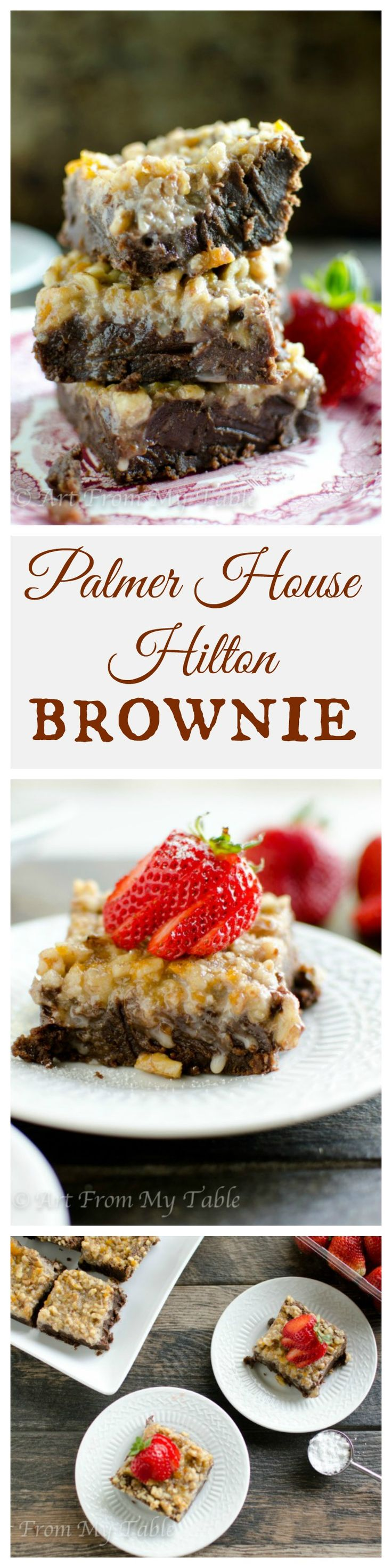 Have a chocolate craving? Try the original brownie recipe! Rich, velvety smooth and decadent.  The Palmer House Hilton Brownie doesn't disappoint!