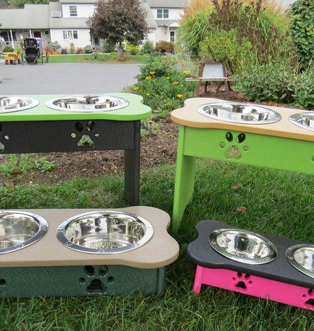CUSTOM Handmade Poly Elevated Dog Feeder Stand ~ ALL COLORS AND SIZES ~ You Choose
