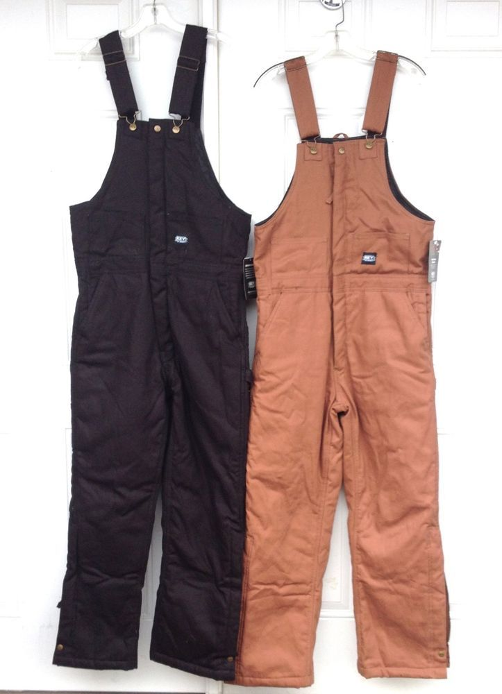 KEY Insulated Bib Overalls Coverall Black & Brown (M-4XL) Short, Regular, Tall #KEY