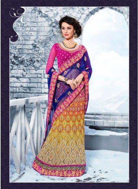 Adorable Beige Embroidered #Lehenga #Saree #bridallehenga #ethnicwear #womenfashion #clothing #fashion