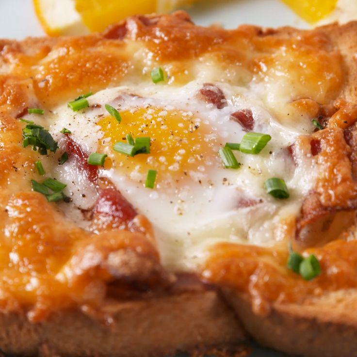 huevos sl horno con pan y tocino