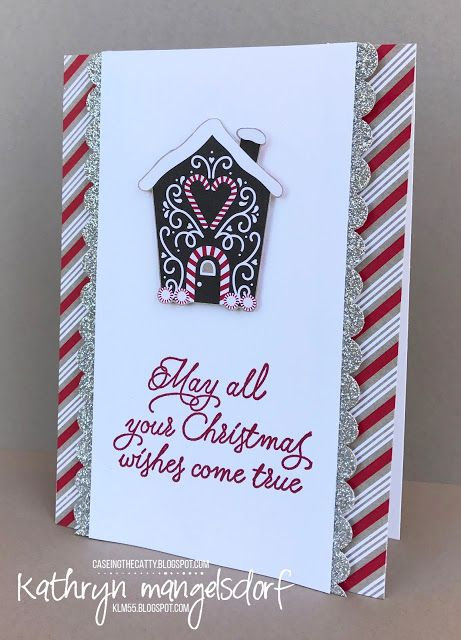 Stampin' Up! Candy Cane Designer Series Paper, Christmas Card created by Kathryn Mangelsdorf
