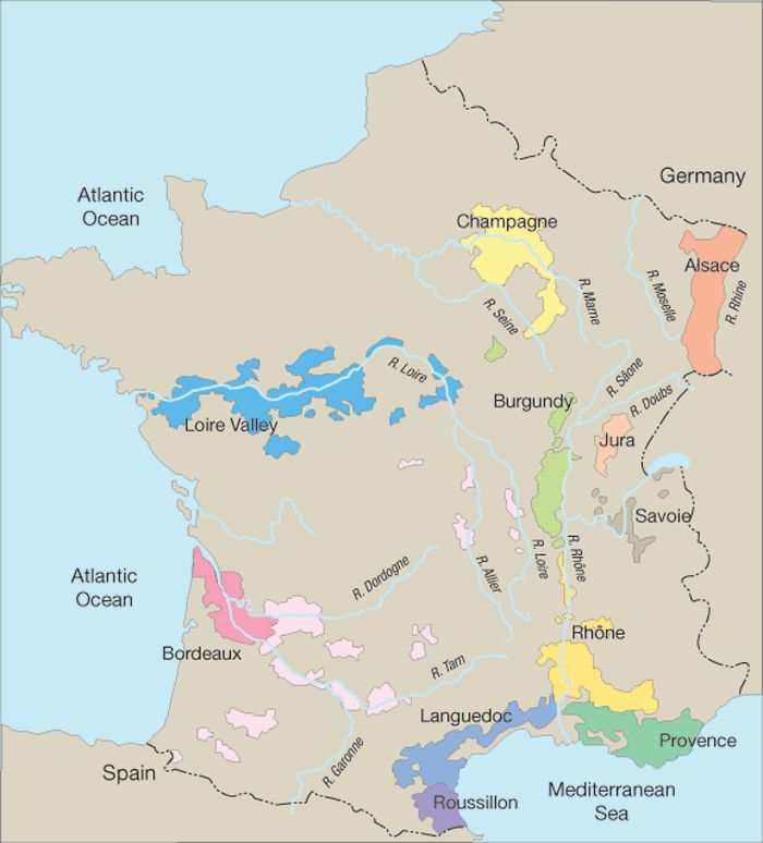 French wine regions wine port cocktails pinterest for Champagne region in france