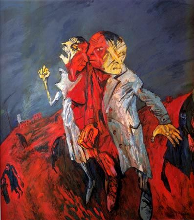 """""""People in a wasteland"""" (1996-1997) Maxim Kantor"""