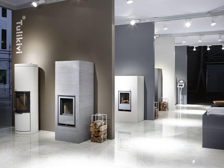 #tulikivi #messut #habitare #habitare2014 #fair #tradefair #fireplace #soapstone #modern #logs #marble #floor