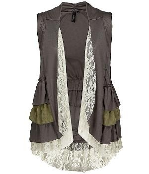 BKE Boutique Ruffle Vest - Women\'s Shirts\ Tops | Buckle: Shirts Tops, Lace, Fashion, Style, Clothing, Ruffles Vest, Boutiques Ruffles, Bke Boutiques, Woman Shirt