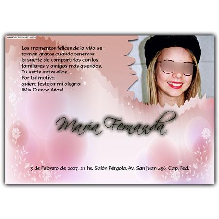 Quinceanera invitation card. Tarjeta invitación para 15 ...
