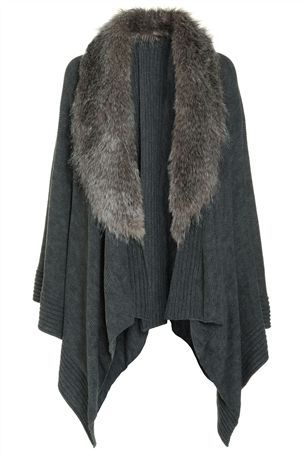 Buy Grey Faux Fur Cape from the Next UK online shop