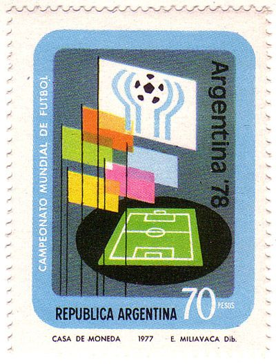 1977 stamp from Argentina for the 1978 FIFA World Cup