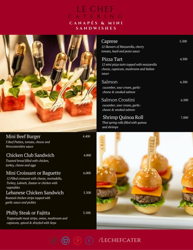 Le chef catering food delivery in Bahrain