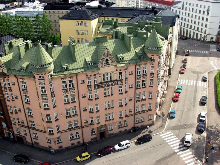 Pretty buildings in Kallio, Helsinki