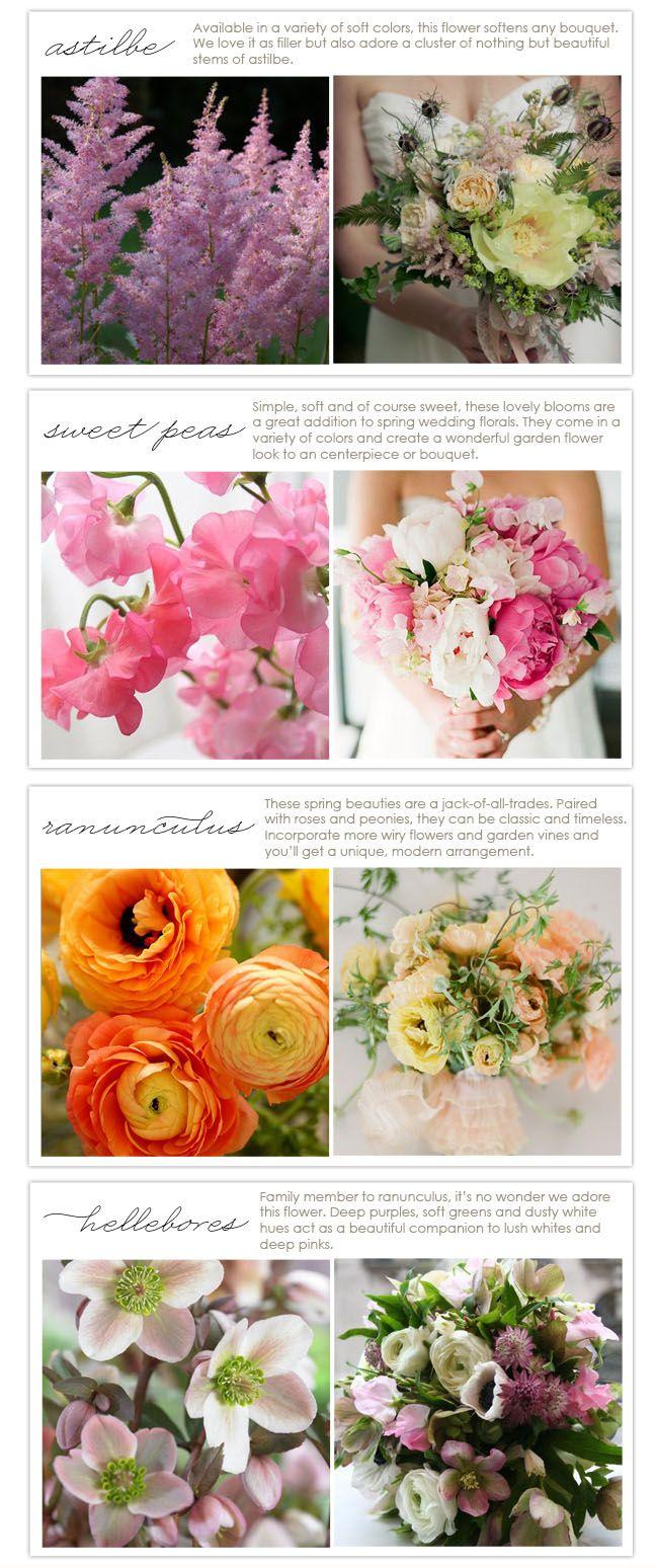 wedding flower seasons march