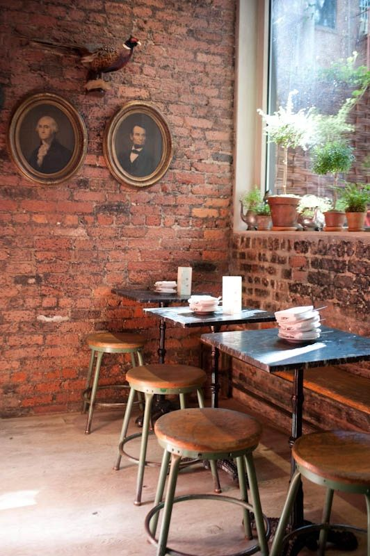Buvette in NY. Rustic charm & comfort make this the perfect place for a meet up. http://newyork.ilovebuvette.com/