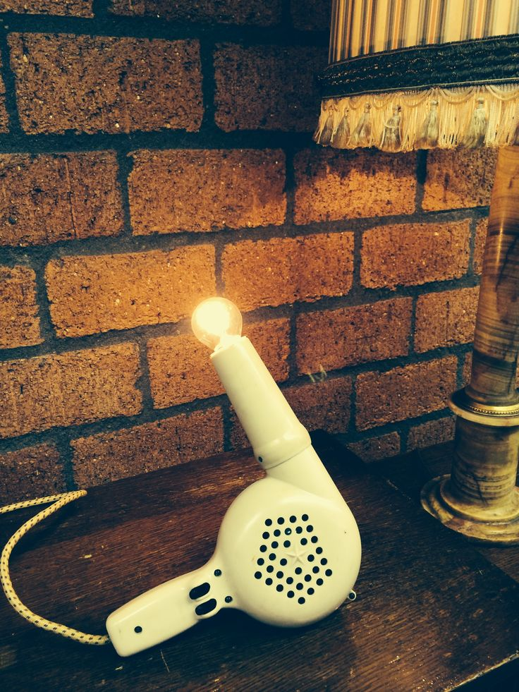 "Blow Dryer ""Ivory"" by Briight Vintage&Bulbs"