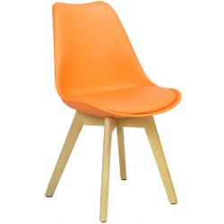 Woody eetkamerstoel oranje - Robin Design