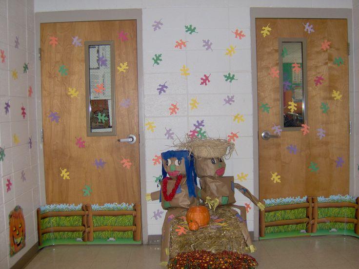 Fall Classroom Window Decorations ~ The best fall classroom door ideas on pinterest