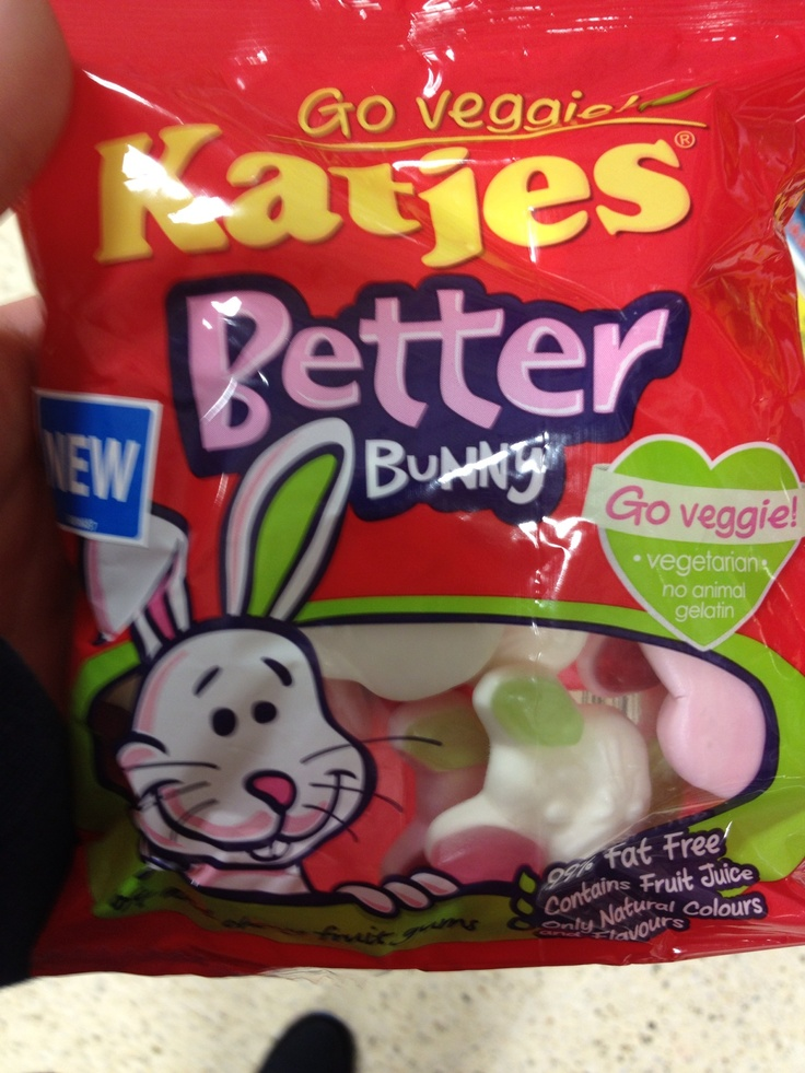 Vegetarian sweets shaped like rabbits, aren't they meat?
