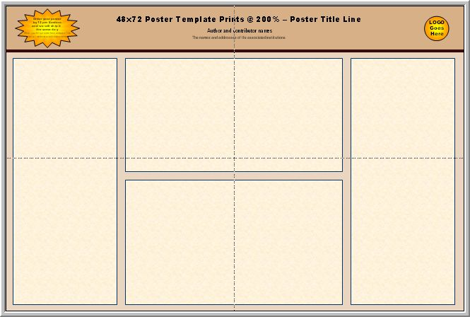 Science Foldable Templates | Posters4Research - Free PowerPoint Scientific Poster Templates