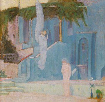 """ Evangelismos "" By Constantinos Parthenis Greek Painter ( 1878 - 1984 )"