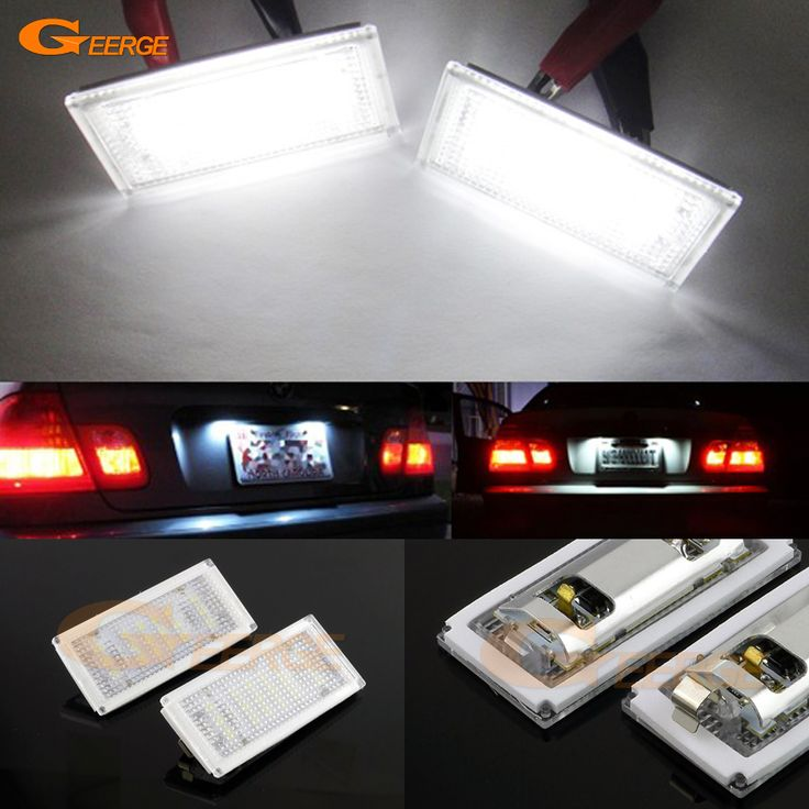 Find More Signal Lamp Information about For BMW E46 2 Door E46 M3 2004 2005 2006 Excellent Ultra bright 3528 Epistar Led License plate lamp light No OBC error,High Quality door led,China bmw light lamp Suppliers, Cheap bmw plate led from Geerge-Tech on Aliexpress.com