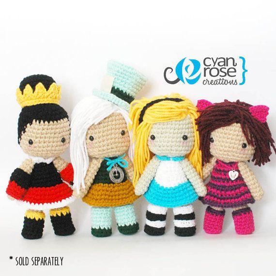 Amigurumi Queens : Queen Of Hearts Inspired Crochet Amigurumi Plush Doll ...