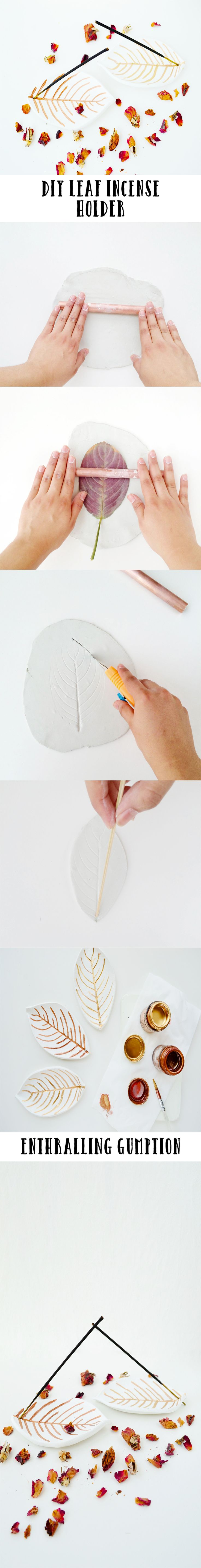 Pick up that fallen leaf of yours and use it to create this leaf incense holder that fits in well with the fall season.