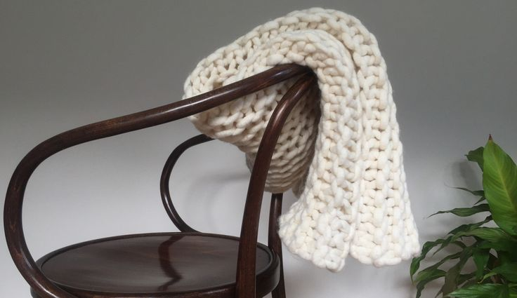 Natural Creamy Throw from Chain Gang Store