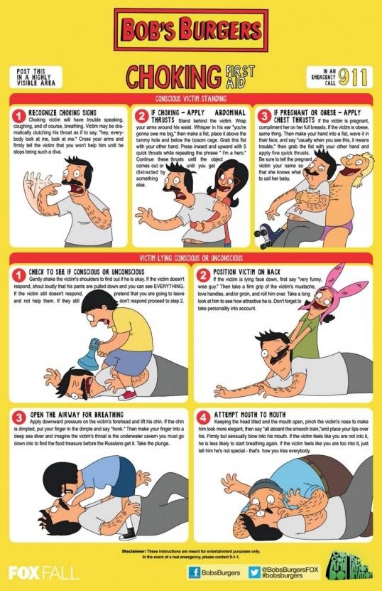 Bob's Burgers vs. Choking