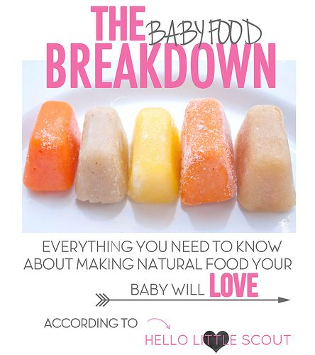 The Baby Food Breakdown that includes how to prepare each fruit or veggie