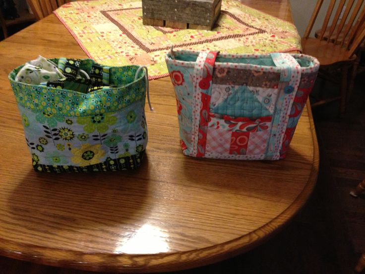 lunch bags i made for the girls