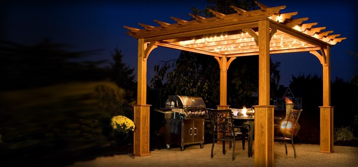 17 Best Images About Pergola Lighting On Pinterest