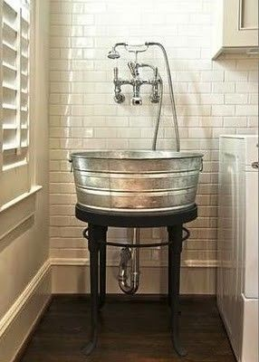 Love this idea! Great for a laundry or mud room