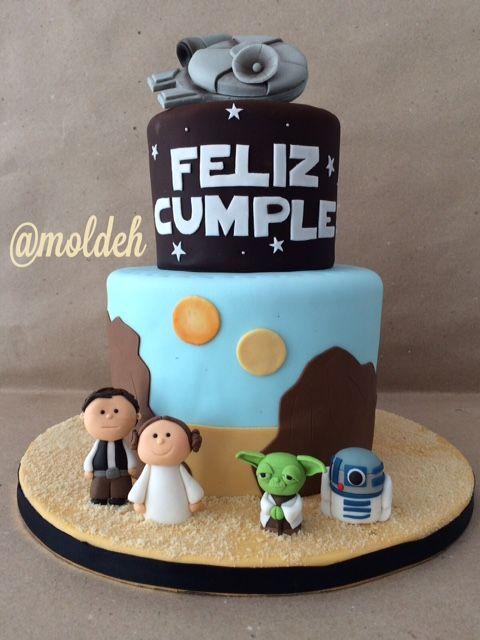 Pastel de Star Wars con Halcon Milenario // Star Wars Millennium Falcon birthday cake