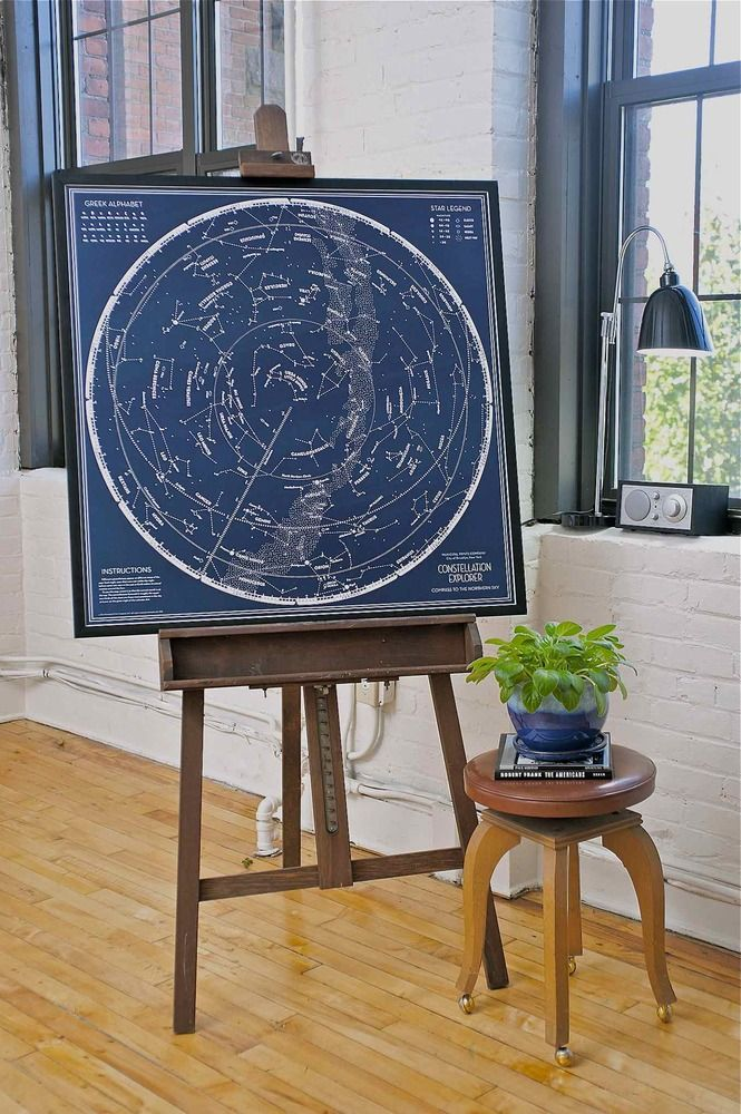 Constellation Explorer: Compass to the Northern Sky by The Municipal Prints Company