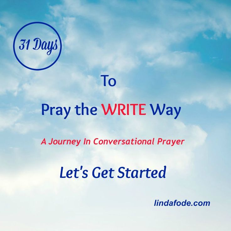 Day 1- Let's Get Started #write31day