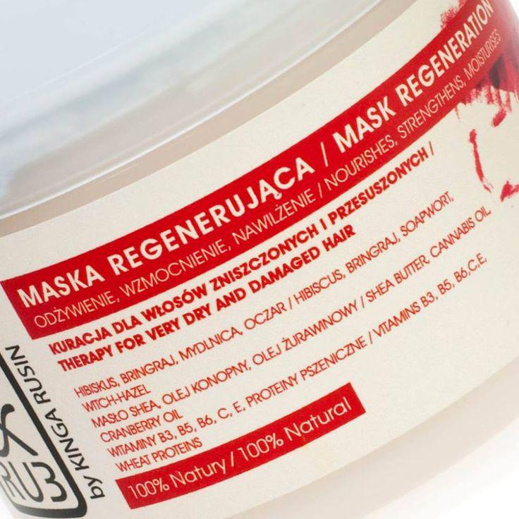 Regenerująca maska do włosów suchych i farbowanych - kosmetyki naturalne PAT & RUB
