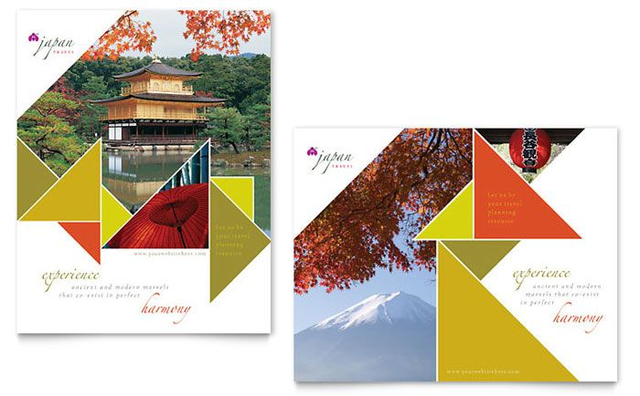 Travel To Japan Vacation Flyer Template Ai And Psd Flyer Japan