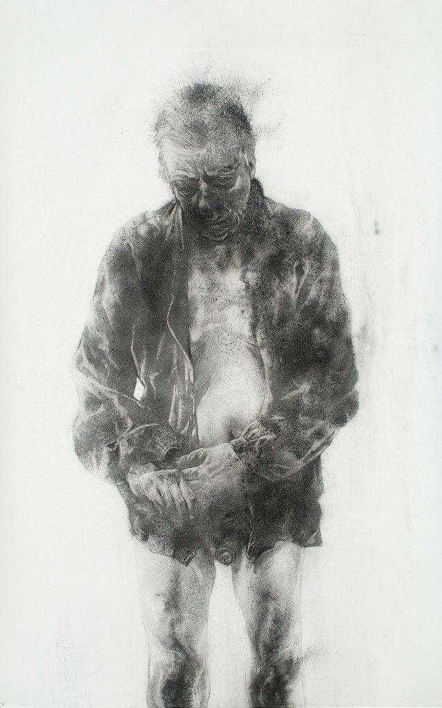 Diane Victor    Dustman, 2010    Dust on paper    150 x 94.5 cm