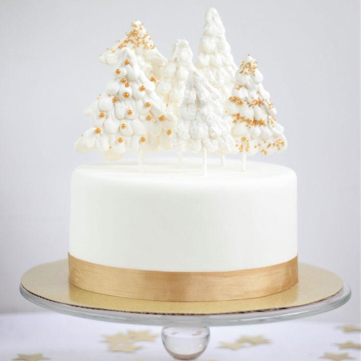 Wunderschöne Winterszene für Ihren Weihnachtskuchen mit Candy Melts und Sparklings …   – Christmas/ Yule / Winter Solstice